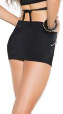 Plus Size Sexy Black Mini Skirt - Black