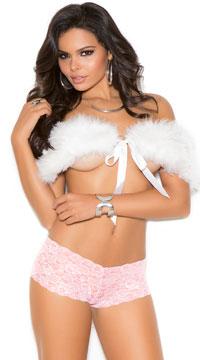 Lace Boyshort Panty - Baby Pink