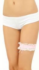 Leg Garters - Pink/White