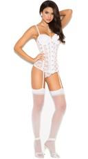 Seductive Lace-Up Bustier - White