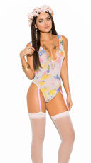 Sheer Tie Die Gartered Teddy