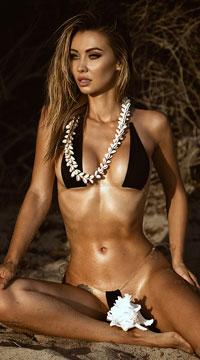 Clear Babe Micro Bikini - Black