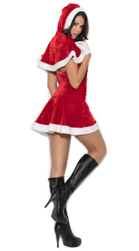 Mrs. Santa Costume - Red/White