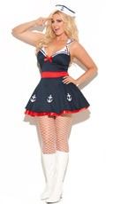 Plus Size Sailors Delight Costume - as shown