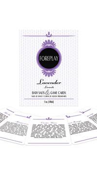 Lavender Bath Salts Card Game
