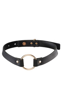Bijoux Black Ring Choker - Black