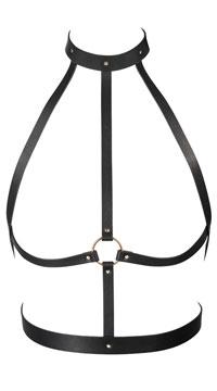 Black High Neck Harness