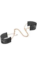 Desire Metallique Mesh Handcuffs - Black