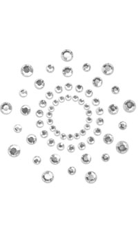 Crystal Clear Rhinestone Pasties - Clear