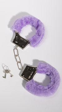 Furry Purple Handcuffs - Purple
