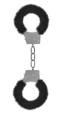 Furry Black Handcuffs - Black