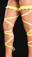 Animal Print Leg Wrap - Yellow Animal Print