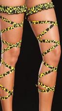 Animal Print Leg Wrap - Yellow Tiger