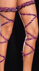 Animal Print Leg Wrap - Pink Zebra Print