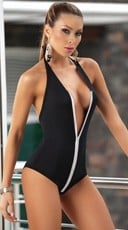 Low Cut Bodysuit - Black