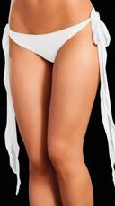 Basic Long Tie Panty - White