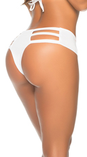 Strappy Thong Hipster - White