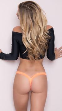 Wet Look Micro Thong - Wet Orange