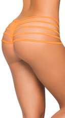 Ultra-Strapped Wet Look Thong - Wet Orange
