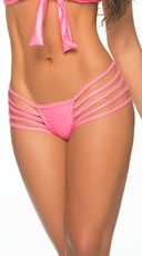 Ultra-Strapped Wet Look Thong - Wet Pink