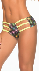 Glow Printed Triple Strap Hipster Panty - Daisy
