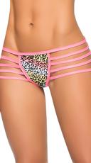 Multi-Strap Hipster Glow Panty - Cheetah Print