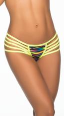 Multi-Strap Hipster Glow Panty - Zebra Print
