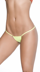 Clip Y Back Thong - Wet Green