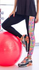 9ca2373bbb6e6 Watercolor Gym Leggings - Black Watercolor Gym Leggings - Black ...