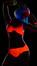 Glowing Desire Lace Bra Set - Orange