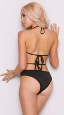 Shredded Fishnet Bodysuit - Black
