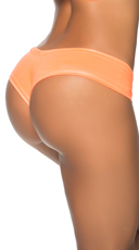Basic Wet Look Boyshort - Wet Orange