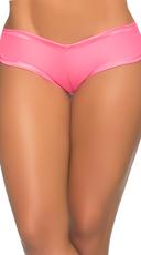 Basic Wet Look Boyshort - Wet Pink