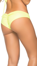 Wet Look Scrunch Back Bikini Panty - Wet Green