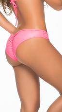 Wet Look Scrunch Back Bikini Panty - Wet Pink