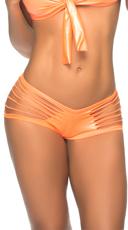 Wet Look Slashed Panty - Wet Orange