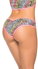 Multicolor Cheeky Scrunch Back Panty - Cheetah Print