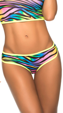 Multicolor Cheeky Scrunch Back Panty - Zebra Print