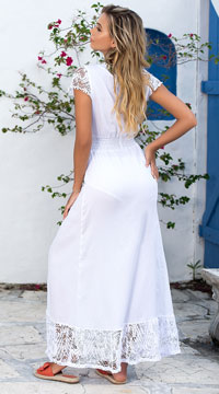 Born A Beauty Maxi Dress - White