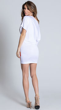 White Floral Mini Dress - White