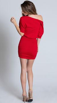 Classic Short Sleeve Mini Dress - Red