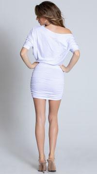 Classic Short Sleeve Mini Dress - White