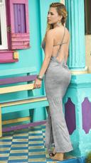One Shoulder Maxi Dress - Grey