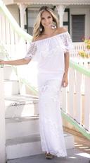 White Crochet Top and Skirt Set - White