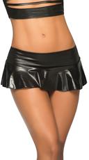 Basic Ruffle Skirt - Wet Black