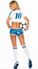 Yandy England Soccer Player Costume - Blue/White