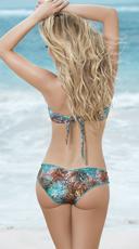 Botanic Twist Ruffle Bandeau Bikini - as shown