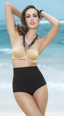 Glamorous High Waisted Bandeau Bikini - as shown