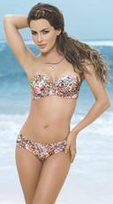 Spring Ruched Bandeau Bikini - as shown