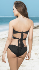 Multi-Purpose Wrapped and Ruched Bikini - as shown